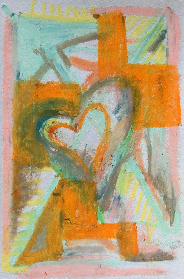 Puzzled Heart Pastel
