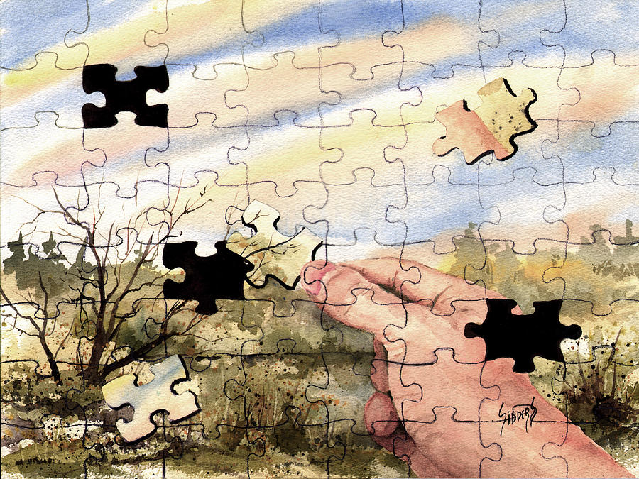 Puzzle Painting - Puzzled by Sam Sidders