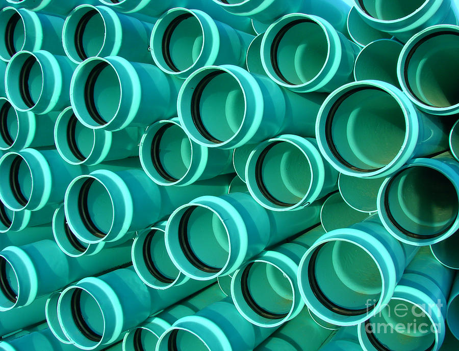 Pvc Photograph - Pvc Pipes by Olivier Le Queinec