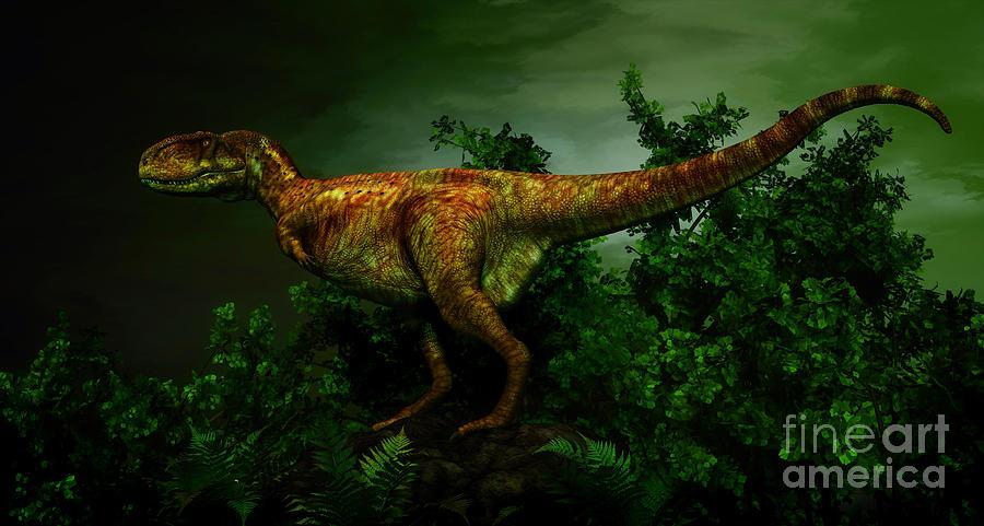 Horizontal Digital Art - Pycnonemosaurus Was A Carnivorous by Philip Brownlow