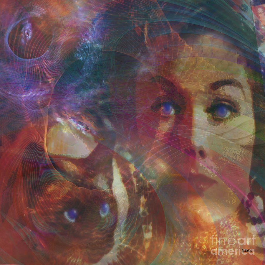 Bell Book And Candle Digital Art - Pyewacket And Gillian - Square Version by John Beck
