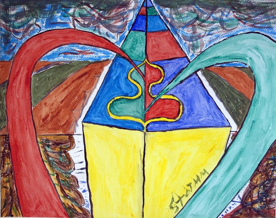 Pyramid Painting - Pyramid Base by Stormm Bradshaw