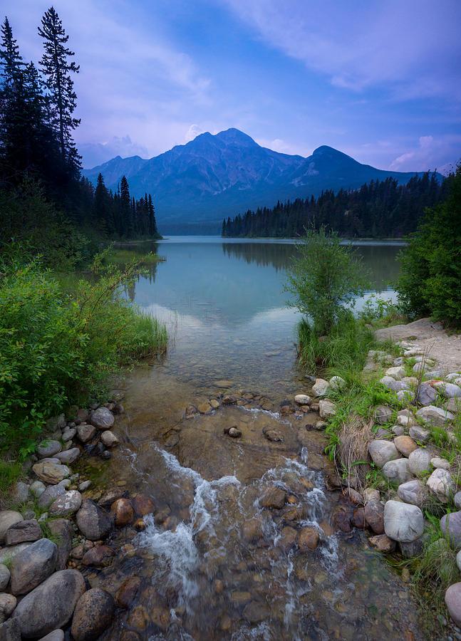Pyramid Mountain And Lake. Photograph