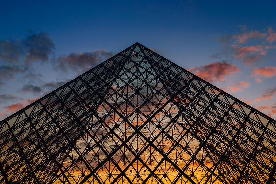 Architecture Photograph - Pyramidal Sunset by Darko Ivancevic