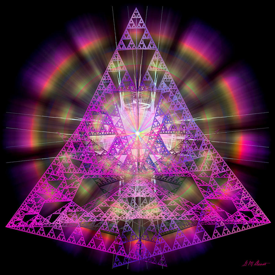 Fractal Digital Art - Pyramidian by Michael Durst