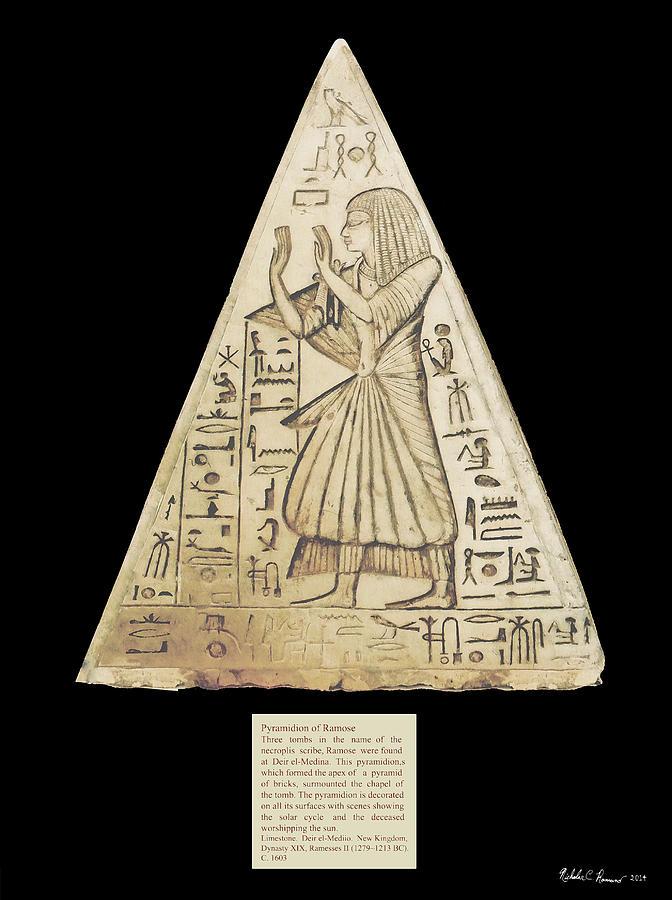 Pyramidion Photograph - Pyramidion Of Ramose by Nicholas Romano