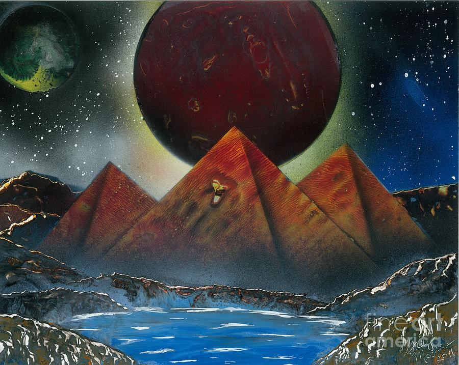 Planets Painting - Pyramids 4663 by Greg Moores