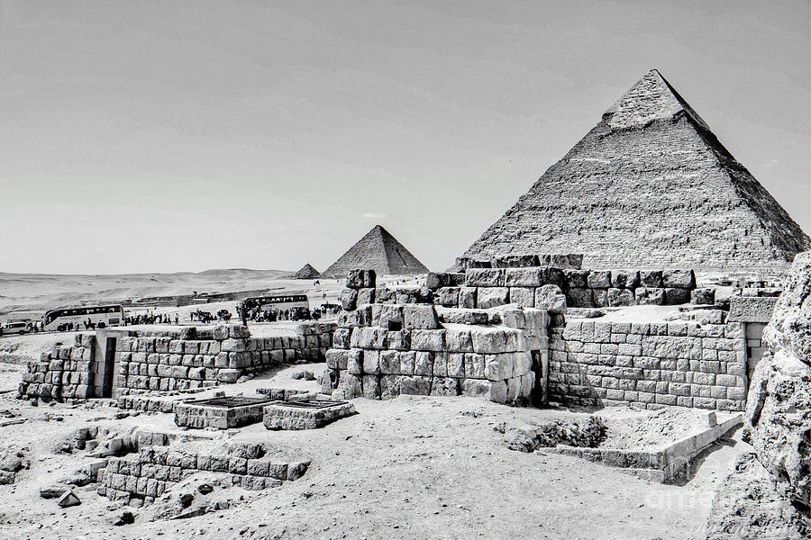 Pyramids  Photograph by Karam Halim