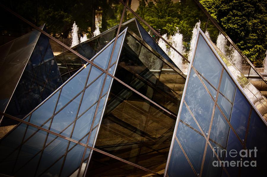 Wall Photograph - Pyramids Reflected by Tom Gari Gallery-Three-Photography