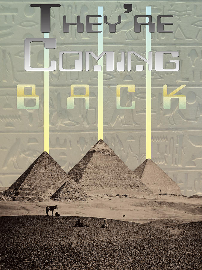 Egyptian Digital Art - Pyramids Ufo Landing Site by
