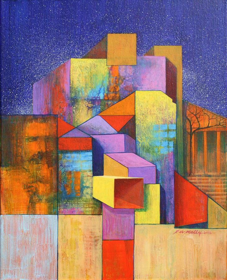 Spontaneous Painting - Pythagoras Revisited by J W Kelly