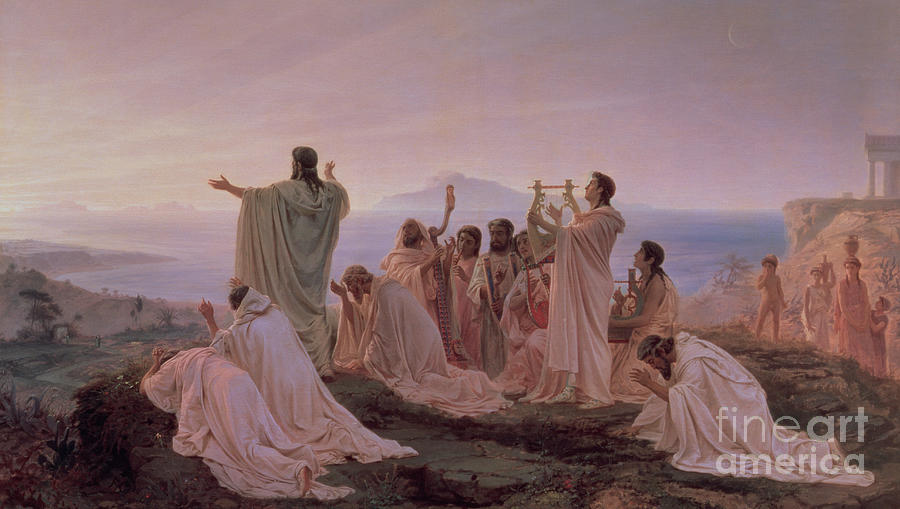 Pythagorean Painting - Pythagoreans Hymn To The Rising Sun by Fedor Andreevich Bronnikov