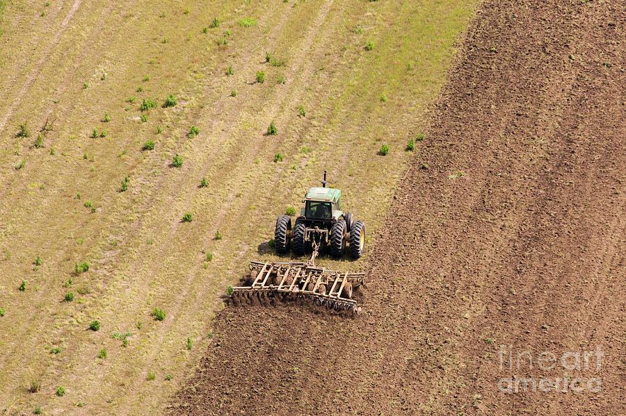 Aerial Photograph - Quad Tractor by John Ferrante