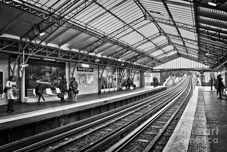 Paris Photograph - Quai De La Gare by Delphimages Photo Creations