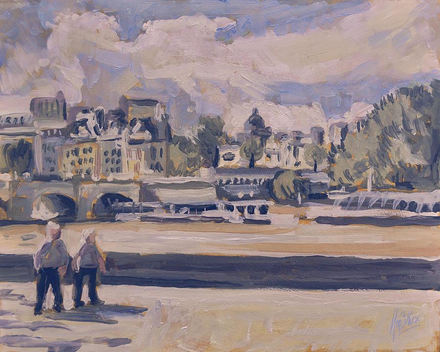 Claude Monet Painting - Quai Du Louvre by Nop Briex