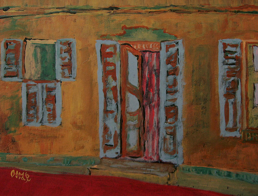Cityscapes Painting - Quaint Home by Oscar Penalber