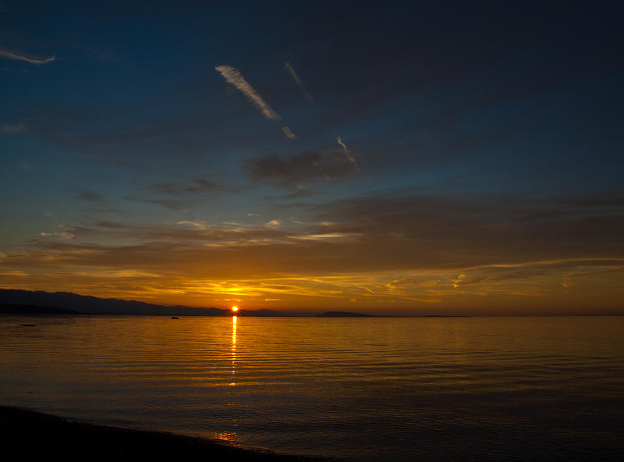 Sun Photograph - Qualicum Sunset II by Randy Hall