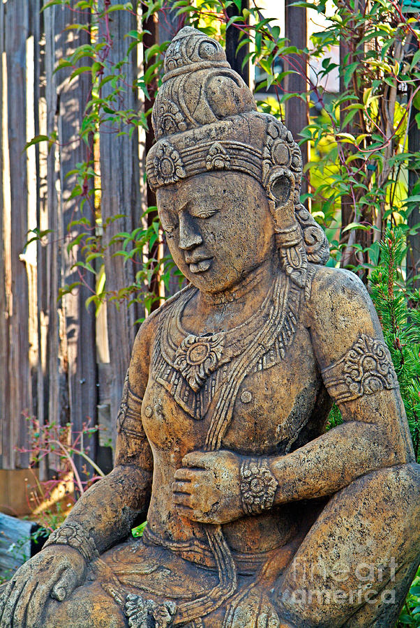 Quan Yin Photograph   Quan Yin Statue By Charlene Mitchell