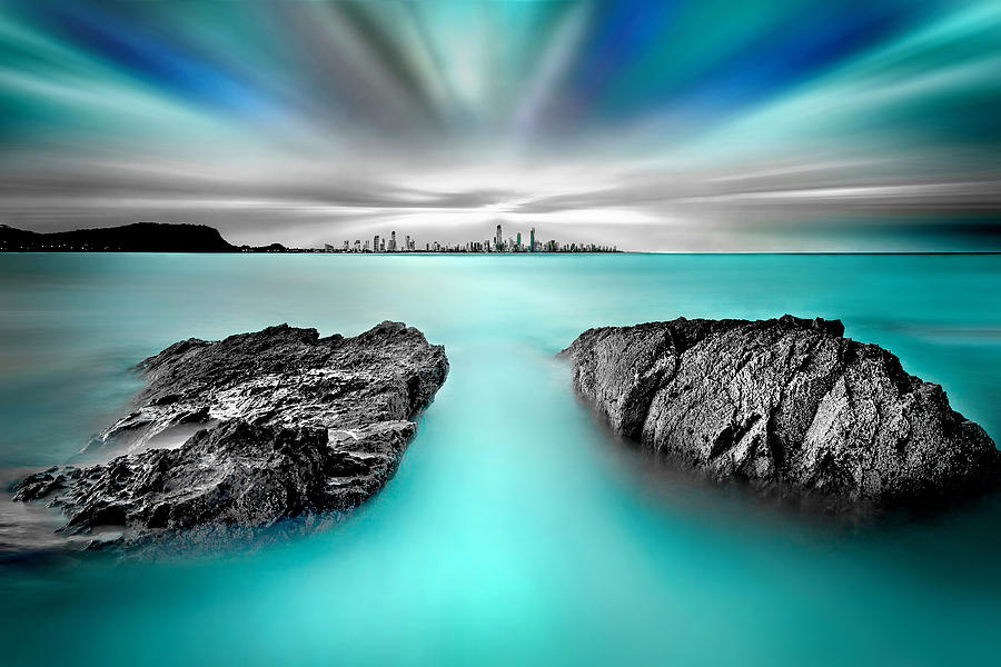 Gold Coast Photograph - Quantum Divide by Az Jackson