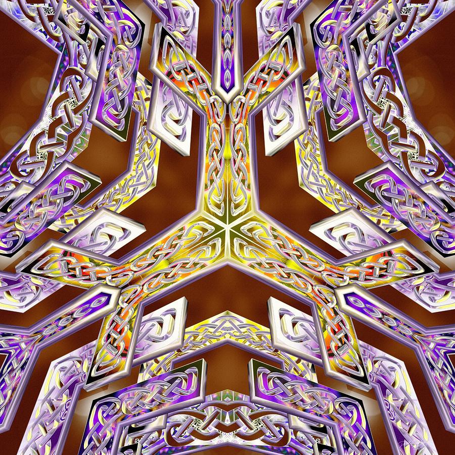 Sacred Digital Art - Quantum Legacy by Derek Gedney