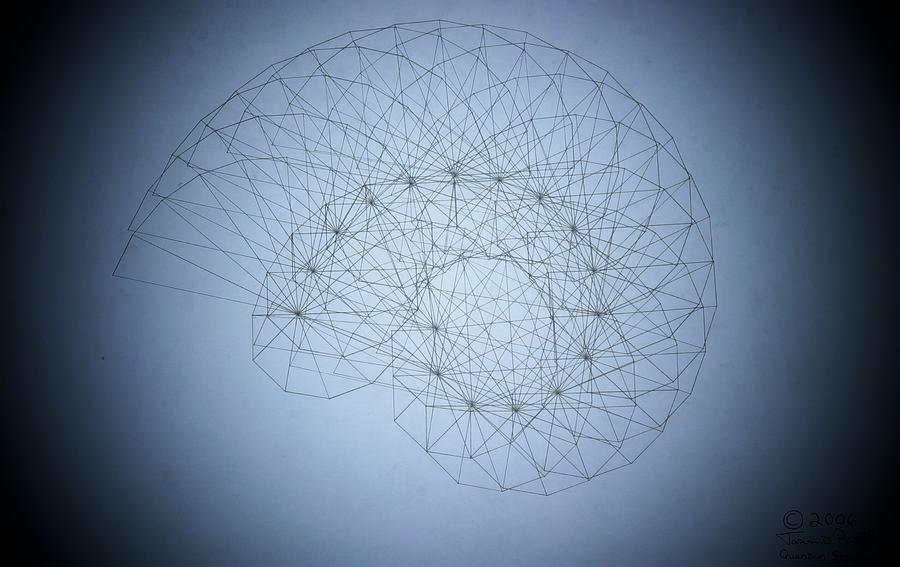 Seashell Drawing - Quantum Nautilus Spotlight by Jason Padgett