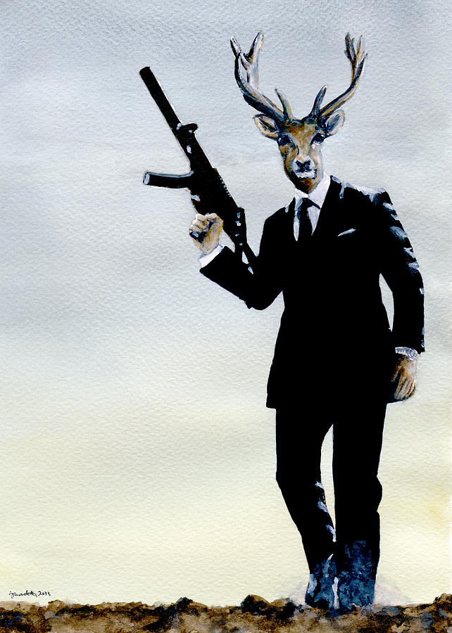 James Bond Painting - Quantum Of Forest by Carlo Ghirardelli