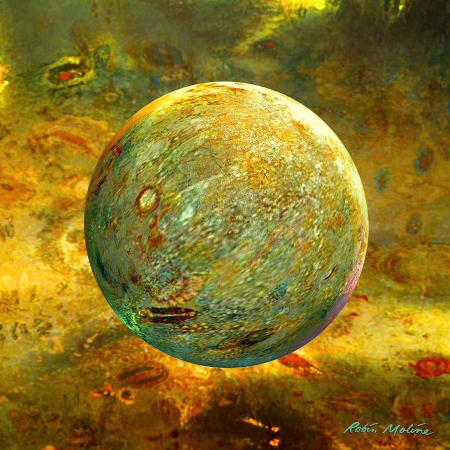Yellow Digital Art - Quantum Soul...orb Of Light by Robin Moline