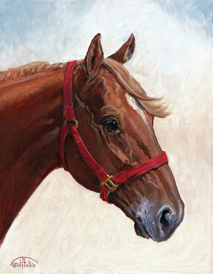 Horse Painting - Quarter Horse by Randy Follis