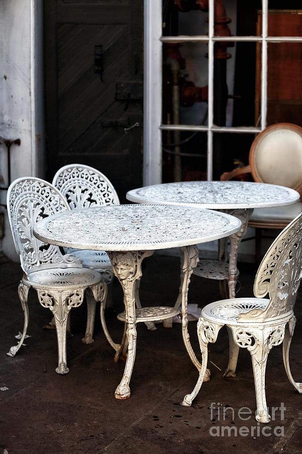 Quarter Tables Photograph - Quarter Tables by John Rizzuto