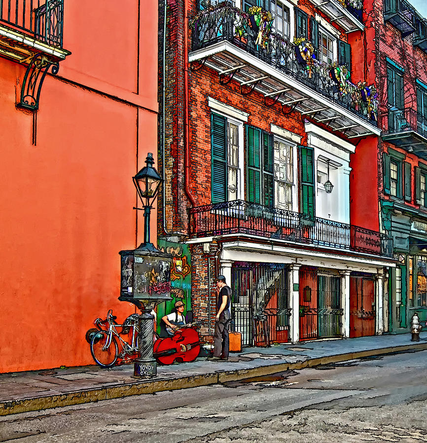French Quarter Photograph - Quarter Time Painted by Steve Harrington