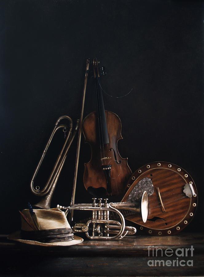 Violin Painting - Quartet No.2 by Larry Preston