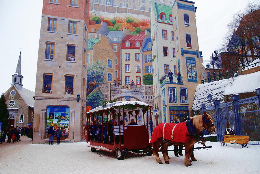 Quebec City Photograph - Quebec City Holiday by Jacqueline M Lewis
