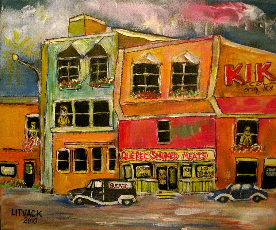 Montreal  Painting - Quebec  Smoked Meat King by Michael Litvack