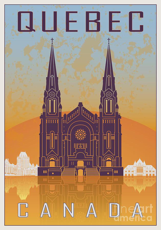 Quebec Vintage Poster Digital Art