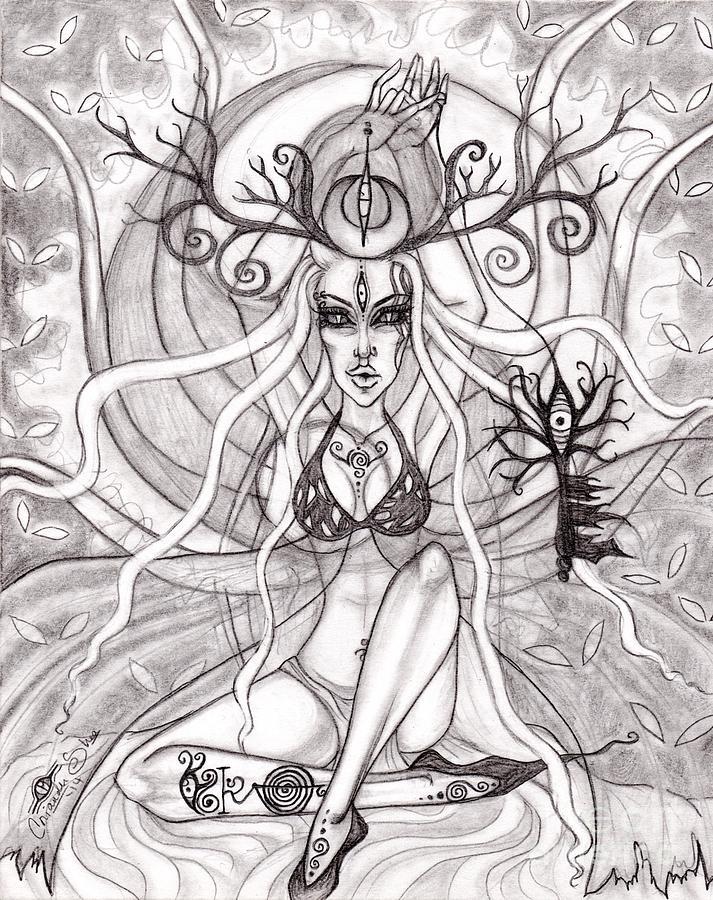 Queen Drawing - Queen Aeranelii by Coriander  Shea