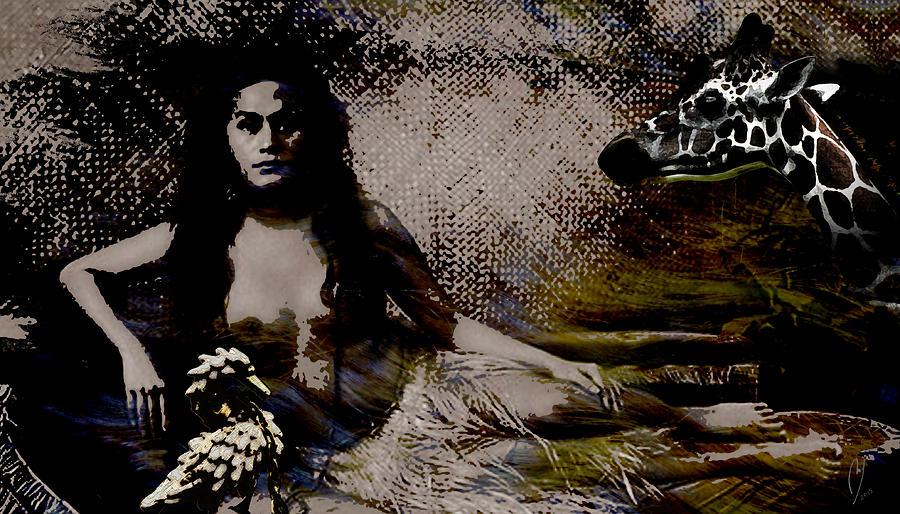 Queen Digital Art - Queen And Courtiers by Maria Jesus Hernandez