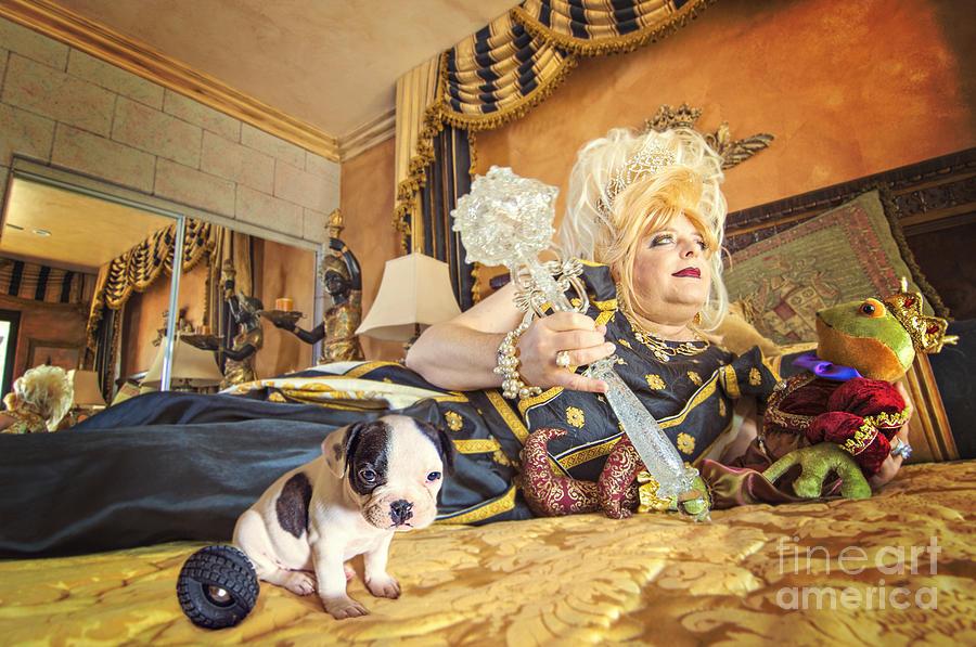 Bbw Photograph - Queen And The Frog by Danilo Piccioni