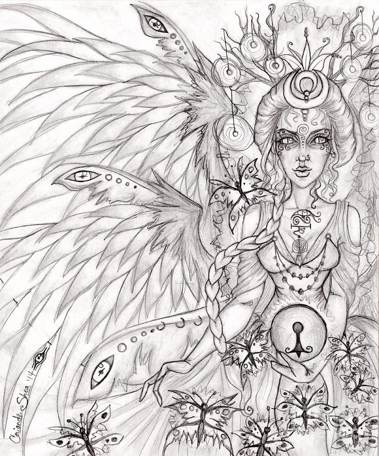 Queen Drawing - Queen Caer Delii by Coriander  Shea