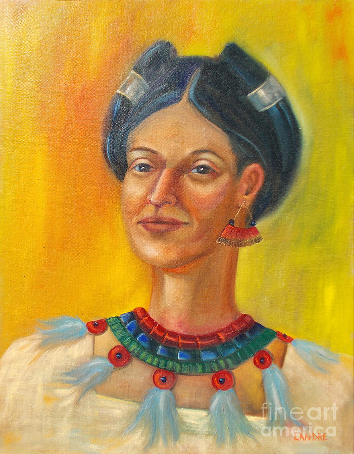 Aztec Painting - Queen Centehua by Lilibeth Andre