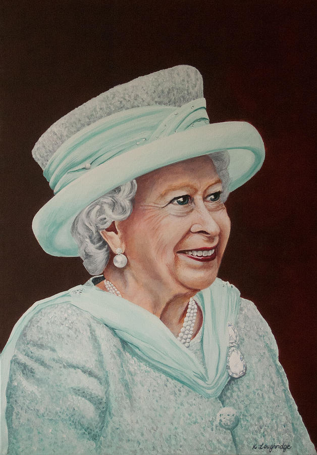 Queen Elizabeth II 2012 by Karen  Loughridge