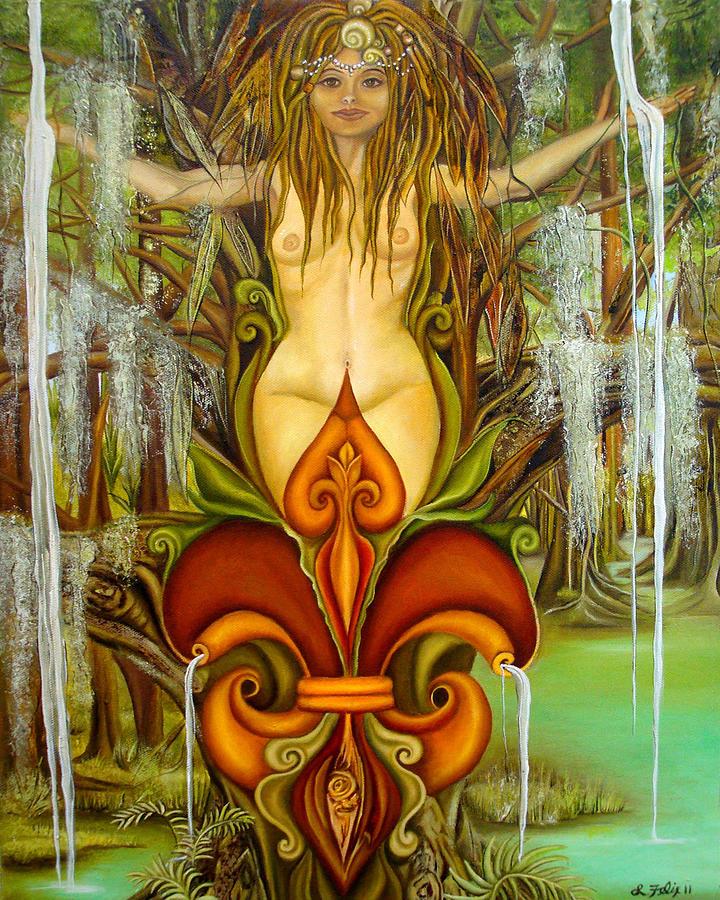 Fleur De Lis Painting - Queen Fleur de Lis by Lori Felix