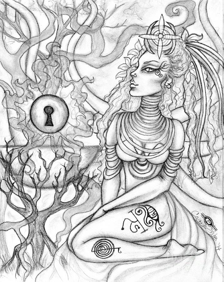 Queen Drawing - Queen Haelane by Coriander  Shea
