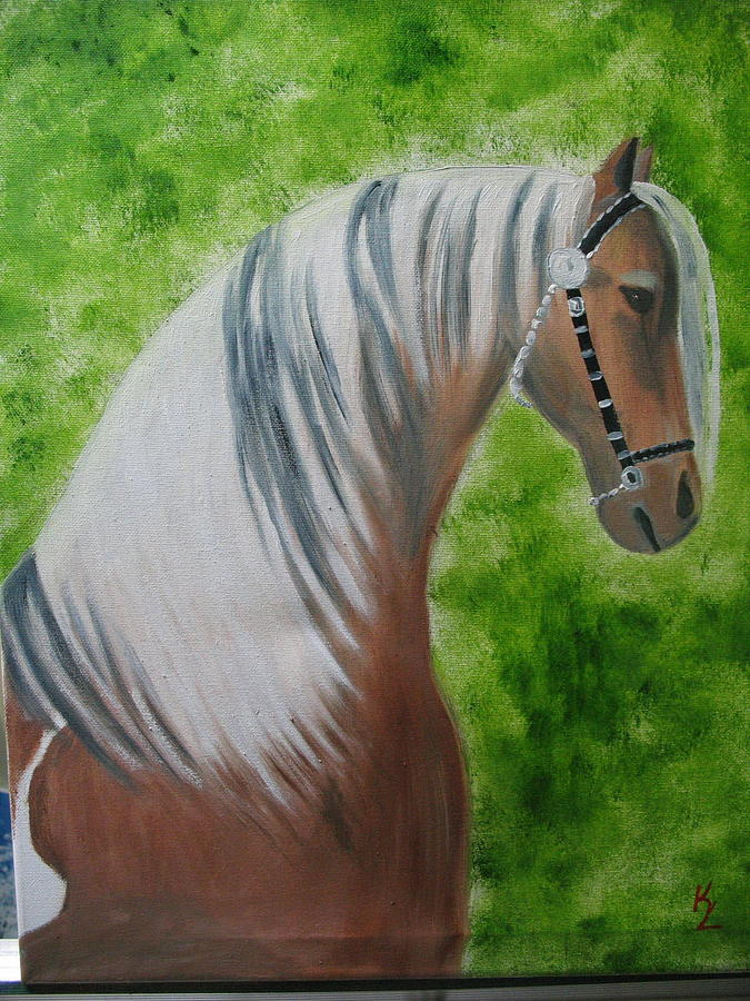 Horse Painting - Queen by Kathy Livermore