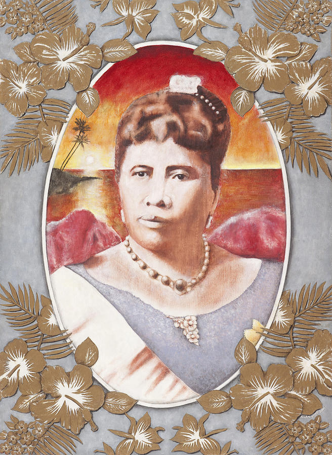 Queen Liliuokalani Painting by Alan Fine