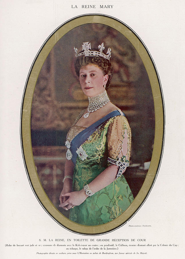 Queen Photograph - Queen Mary (1867 - 1953) Wearing by Mary Evans Picture Library