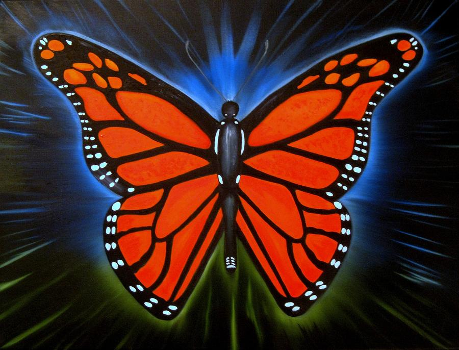 Butterflies Painting - Queen Monarch by RJ McNall