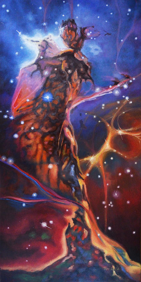 Artist Painting - Queen Nebula 1 by Toni Wolf