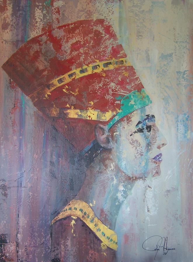 Egyptian Painting - Queen Nefertiti by John Henne