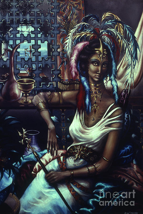Black Woman Painting - Queen Of Atlantis by Jane Whiting Chrzanoska