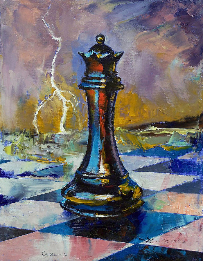 Queen Of Chess Painting by Michael Creese